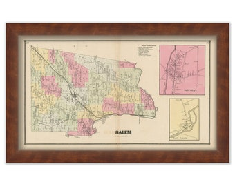 Salem New York Map.New Salem Ny Map Etsy