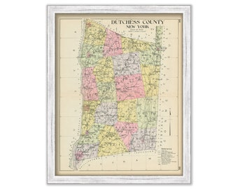 Dutchess county map | Etsy