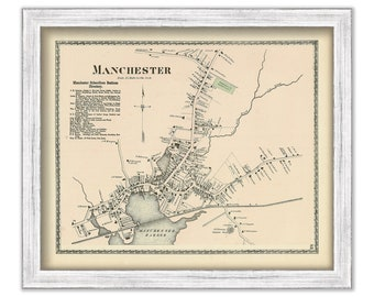 oversize map print fine reproduction Antique map of North Sea fine art print very rare map 1702 large map old map
