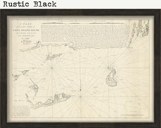 LONG ISLAND SOUND - Eastern Part 1777 Nautical Chart including Fisher Island, Montauk, Gardner's Island, Newport and Block Island