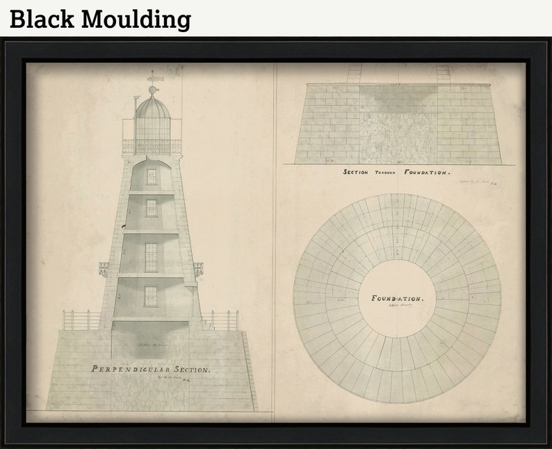 New Jersey ROBINS REEF LIGHTHOUSE Drawing and Plan of the Lighthouse as it was in 1883.
