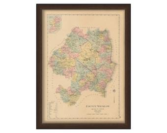 County Wicklow - Memorial Atlas of Ireland 1901