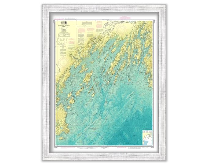 CASCO BAY, Maine - 2019 Bathymetry Nautical Chart