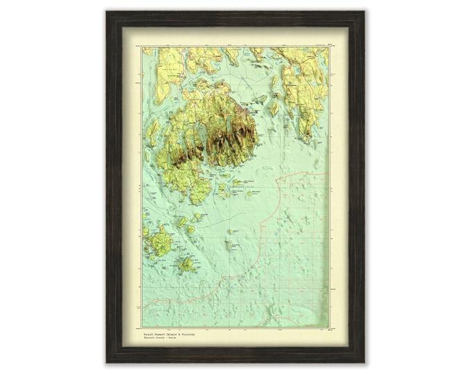 MOUNT DESERT ISLAND  Map/Chart in 3D