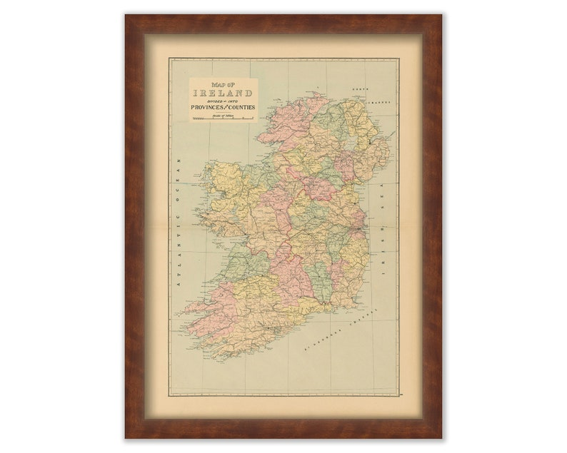 Map Of Ireland 32.Map Of Ireland S 32 Counties 1901 0033 Etsy