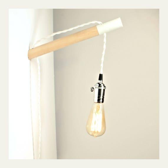applique minimaliste prise en applique murale lampe applique etsy. Black Bedroom Furniture Sets. Home Design Ideas
