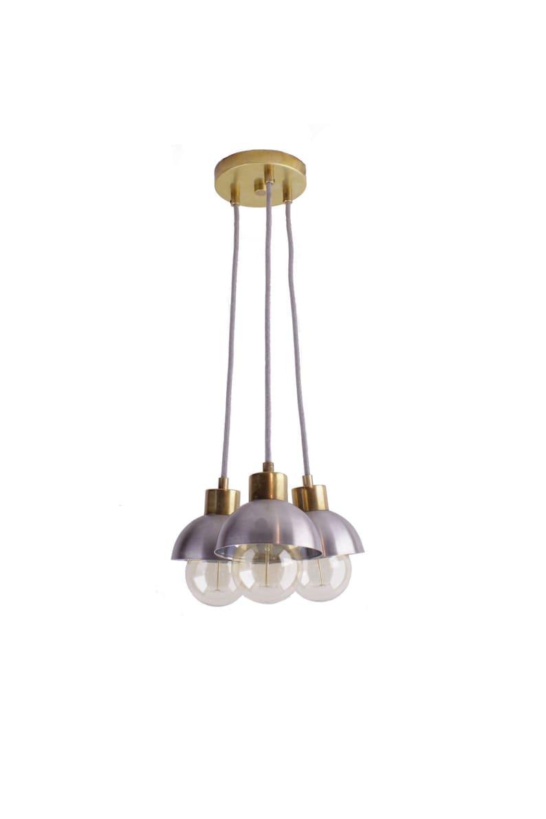 3 Cluster Pendant Light Mixed Metal Modern Ceiling Lighting Etsy