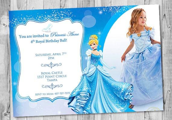 Cinderella Birthday Invitation With Picture Etsy
