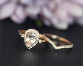 18k Morganite Ring Etsy