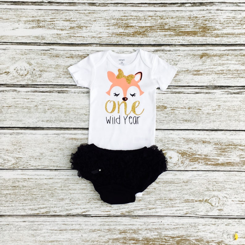 826bb5cdd 1st Birthday Outfit One Wild Year Woodland Fox 1st | Etsy