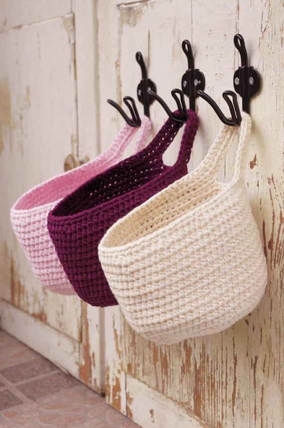 Small Hanging Basket Door Knob Basket Toys Storage Basket