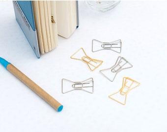 Midori Journal Bow Ribbon clips Gold 41x24mm
