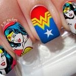 Wonder Woman Nail Decals