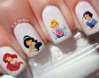 80 Disney Princess Nail Decals