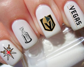 Golden Knights Nail Decals
