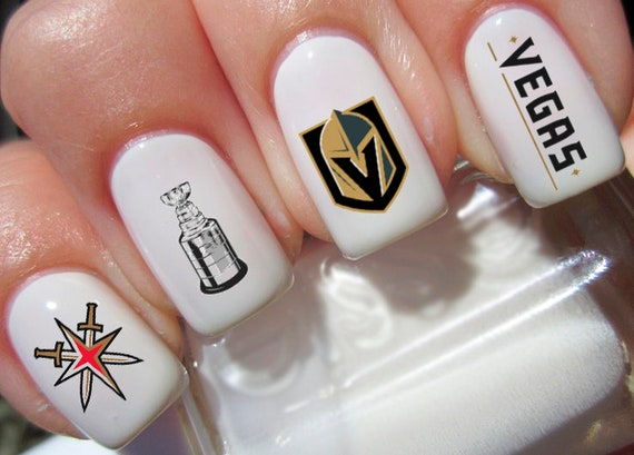 Golden Knights Nail Decals - Set of 40