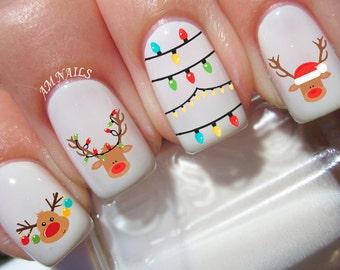 22 Reindeer Nail Decals