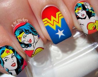 Wonder Woman Nail Decals
