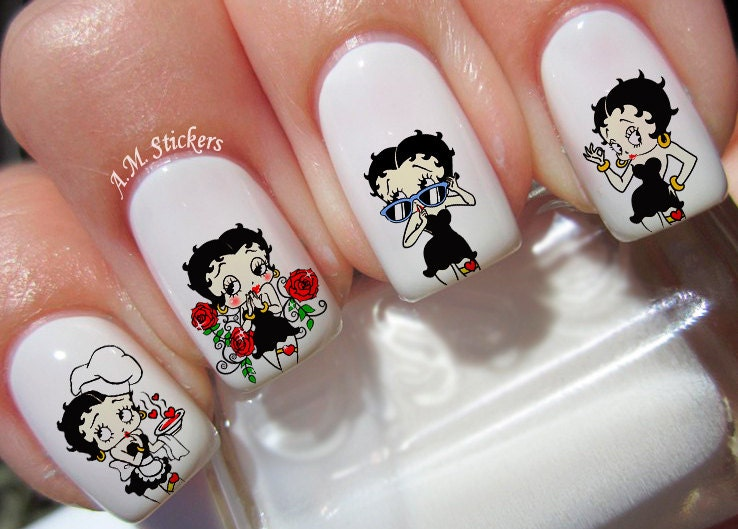 Betty Boop Nail Decals Etsy