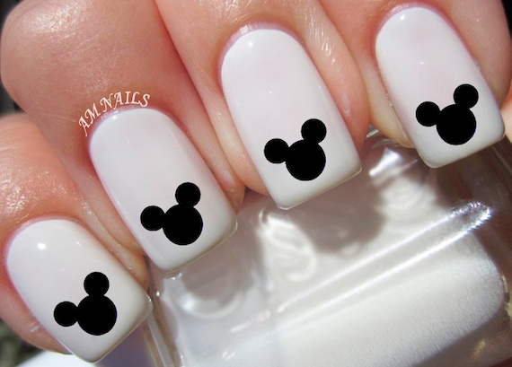 36 Mickey Mouse Ears Nail Decals Etsy