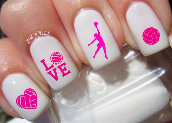 68 Volleyball Nail Decals Etsy