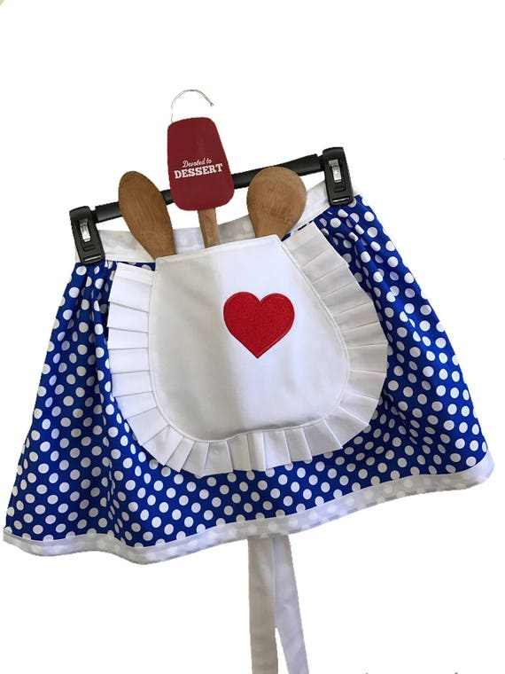Childs Personalized Custom Lucy Style Costume Half Apron