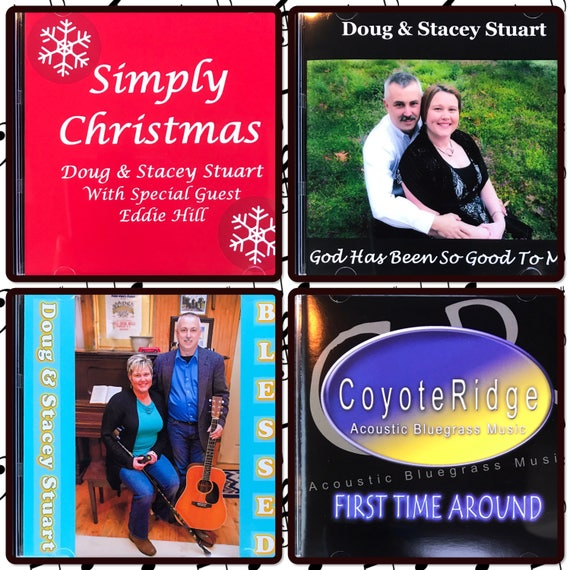 Acoustic Audio CD by Doug and Stacey Stuart, Gospel Bluegrass, Traditional Music, Guitar, Bass, Mandolin, Banjo, Christmas Music, Gift