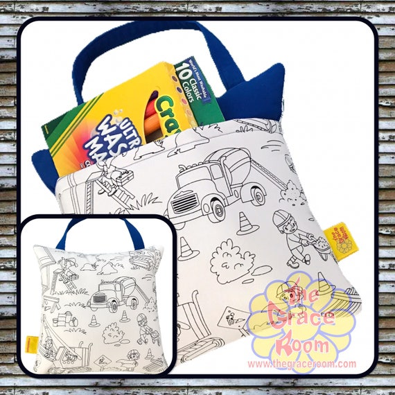 Childs Color Activity Travel Reading Pillow