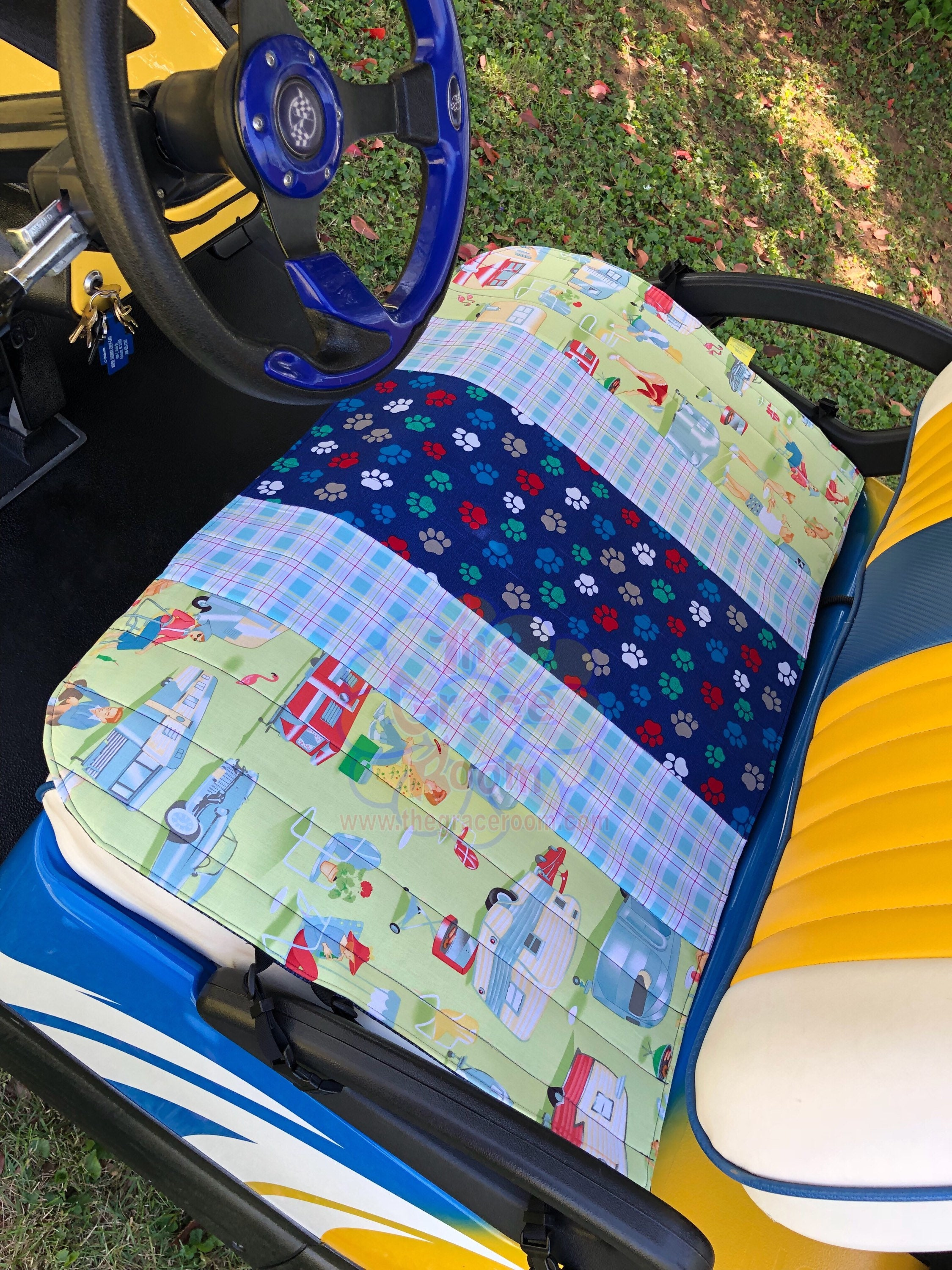 Pet Friendly Golf Cart Front Seat Reversible Protective