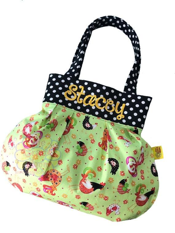 Personalized Chicken Shoulder Bag, Handbag, Tote, Purse