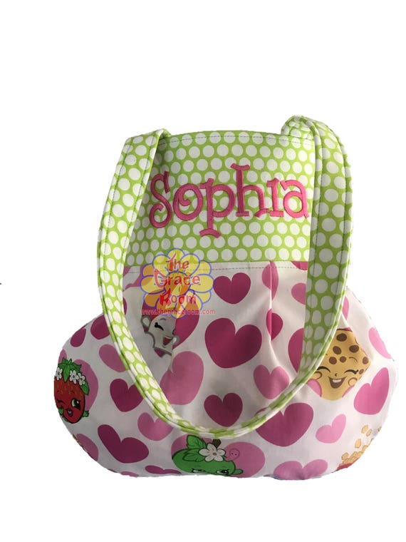 PreTeen Custom Reversible Purse, Tote, Handbag, Shoulder Bag with Optional Personalization and Fabric Choice