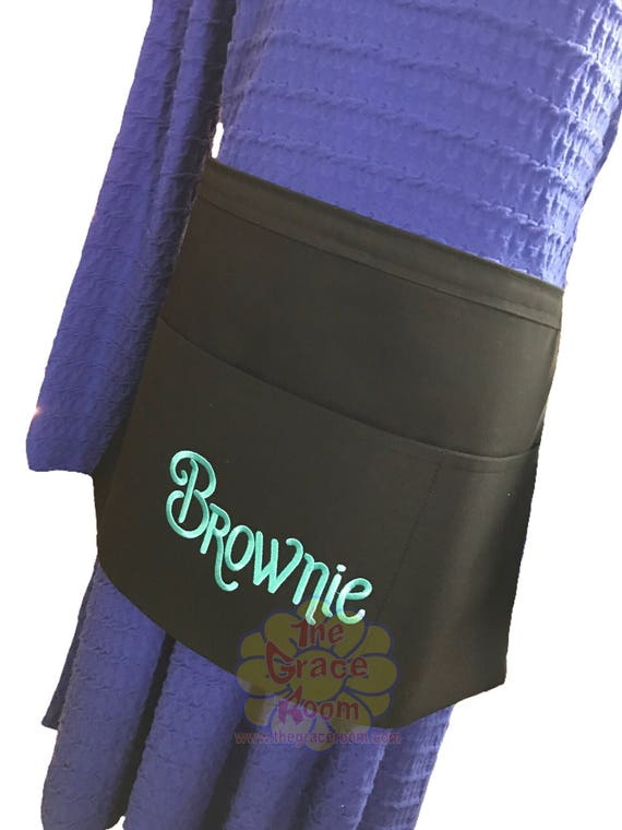 Heavy Duty Black Server or Teacher Apron with Optional Personalization and Custom Fabric