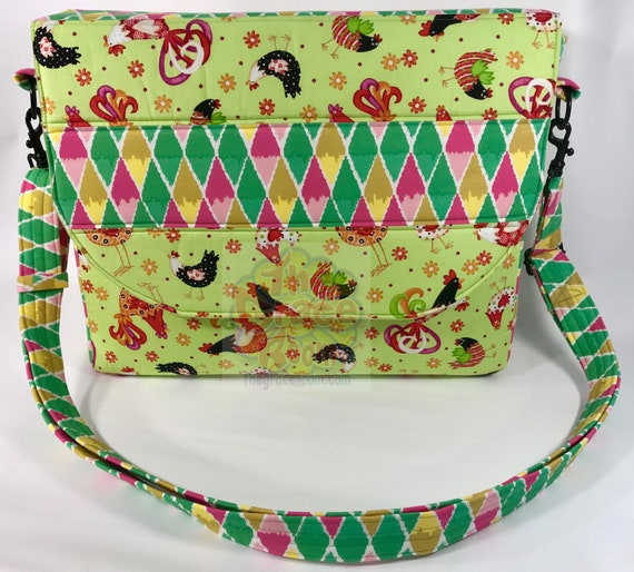 Chicken Laptop Messenger Bag Personalized, Diaper Bag, or Universal Tote