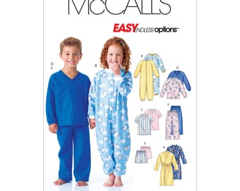 McCall's Sewing Pattern M6224 - Combination - Pyjamas & Bathrobe - for Kids
