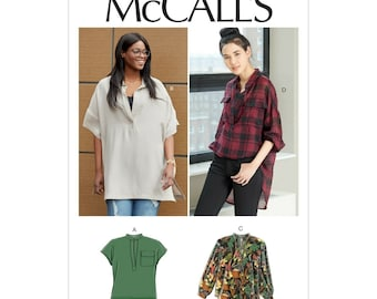 McCall's sewing pattern M7840 - blouse - wide cut - long blouse