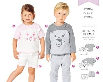 Burda Kids Cut Pattern-Pyjama-Shorty-No.9326