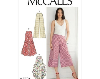McCall's sewing pattern M7786 - pants - pants - 3/4 pants