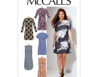 McCalls sewing pattern M7533 - dress - simple and simple - seam in back