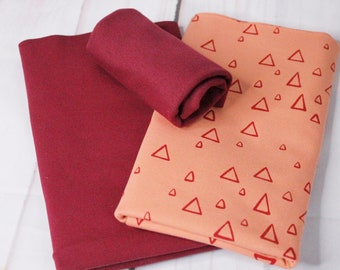 Fabric pack, jersey, triangles, children's clothing, SPJ 33