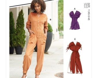 McCalls Sewing Pattern M8154 - Casual Jumpsuit - Overall - 3 Variations