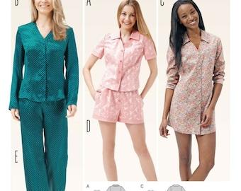 Burda Style Cut Pattern-Nightgown-Sleepsuit-Pyjama for You-# 6742