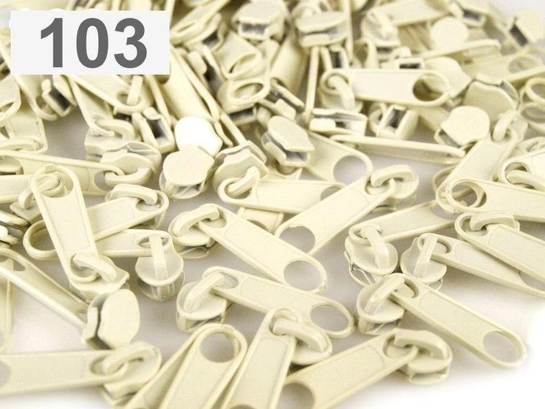 vanill 10 x Zipper 3 mm for continuous zipper