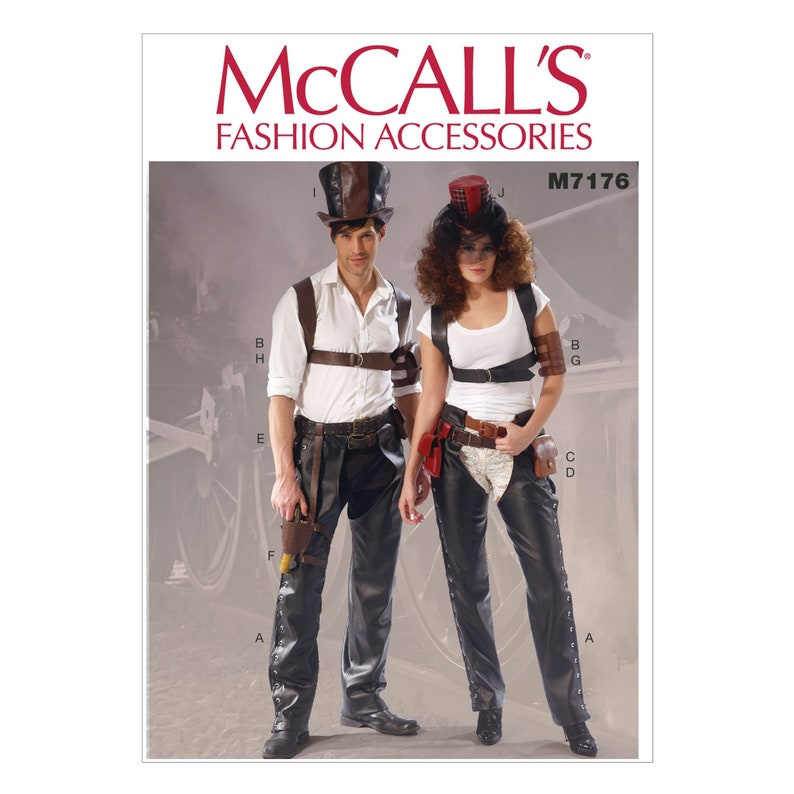 Accessories Belt Steampunk Leather McCalls Sewing Pattern M7176 Pants