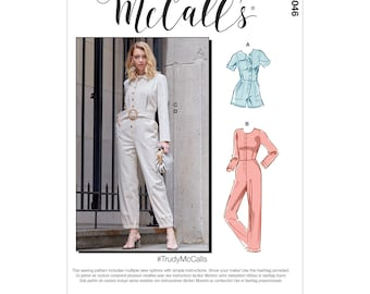 McCalls sewing pattern M8046 - overall sporty or elegant