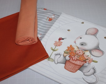 Fabric pack, jersey, small mouse, children's clothing, SP - Maxi 35