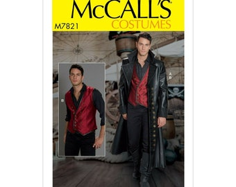 McCalls Sewing Pattern M7821 - Coat - Vest - Cosplay - Costume
