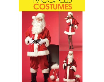 McCalls Sewing Pattern M5550 - Costumes - Santa Claus - Santa Claus