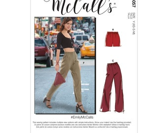 McCall's sewing pattern M8057 - trousers with rubber zugbund
