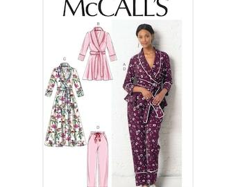 McCalls Sewing Pattern M7875 - Pyjamas - Morning Coat - Home Suit