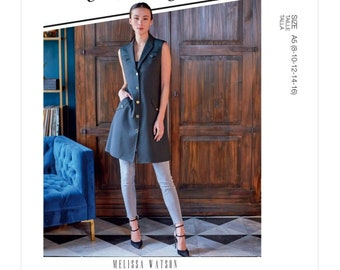 McCalls Sewing Pattern M8122 - Lined Vest or Dress with Patten Taschen